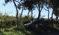 Internauta registra acidente na ES-162; Veículo foi parar fora da estrada