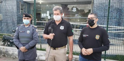 Coletiva de imprensa sobre a prisão de envolvidos na morte do vereador Marquinhos Costalonga