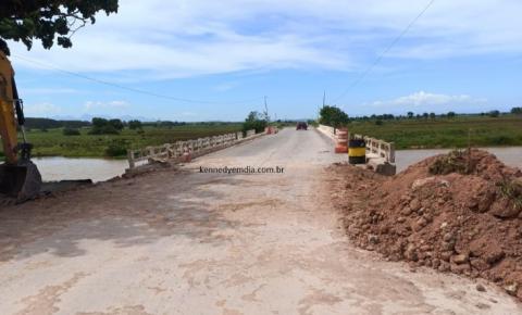 VÍDEO | Ponte da amizade volta a ter circulação de veículos; Obra ainda não foi finalizada