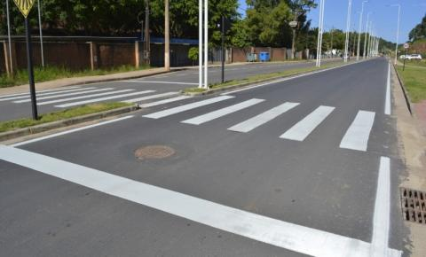Obras na Avenida Orestes Baiense chegam a fase final de acabamento