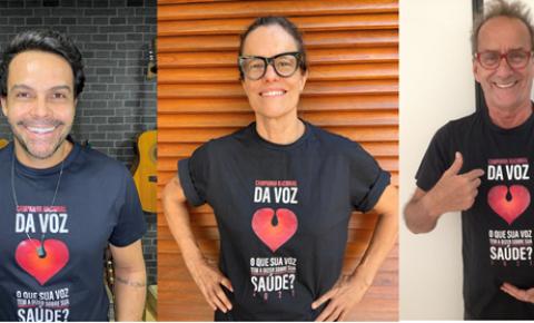 Campanha da Voz 2021 é estrelada por Zélia Duncan, Alexandre Peixe e David Pinheiro