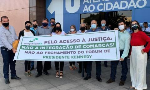 Vereadores participam de ato que defende a manutenção da comarca de Presidente Kennedy