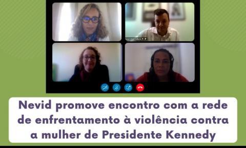 MPES promove encontro com a rede de enfrentamento à violência contra a mulher de Presidente Kennedy