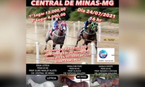 Cavalo de Presidente Kennedy disputa corrida em Minas Gerais