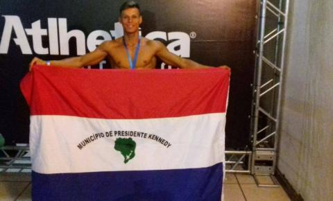 Atleta kennedense conquista a quinta colocação no Campeonato Estadual de Fisiculturismo