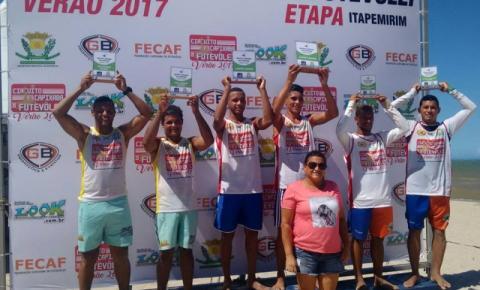 Atletas Kennedenses são campeões da Etapa Itapemirim de Futevôlei