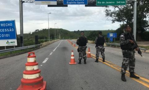 Polícia começa trabalho de reforço de segurança na divisa do ES com o RJ