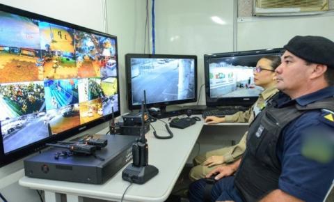 GCM monitora por câmera de segurança a Festa das Neves