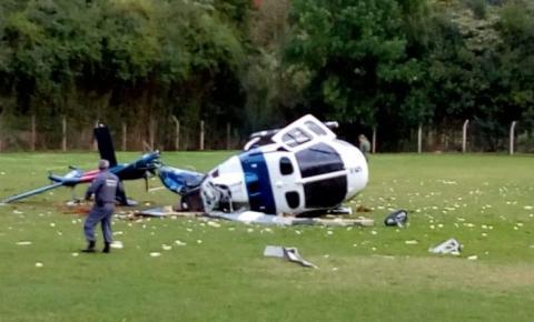 Helicóptero do governador Paulo Hartung sofre acidente em Domingos Martins