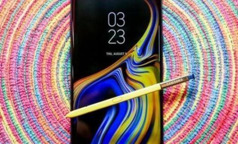 A caneta turbinada do Galaxy Note 9