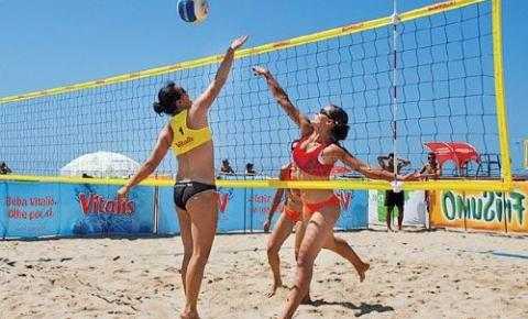 Vôlei de praia é a atração esportiva do fim de semana em Praia de Marobá; Confira