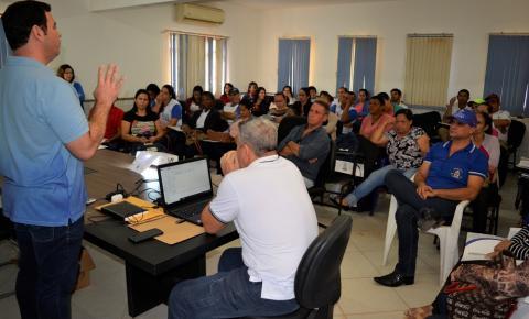 Secretaria de Saúde promove treinamento para os agentes da vigilância ambiental, sanitária e comunitários