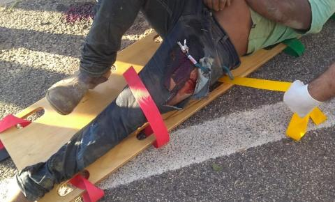 Homem fica ferido após acidente com motocicleta em Mineirinho