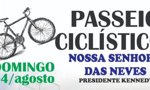 Passeio Ciclístico movimenta o fim de semana em Presidente Kennedy; Inscrição gratuita