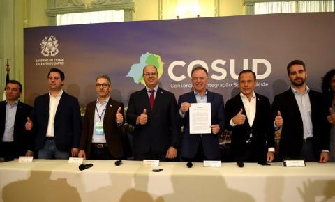 Pela primeira vez, Cosud reúne os sete governadores das regiões Sul e Sudeste