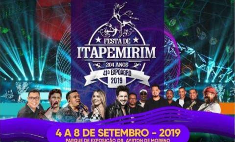 Festa de Itapemirim com programação intensa, confira!