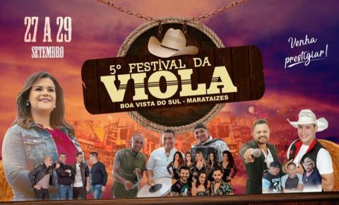 5º Festival da Viola de Boa Vista do Sul começa nesta sexta-feira (27)