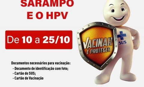 Secretaria de Saúde inicia campanha de vacinação contra Sarampo e HPV