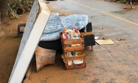 Chuva no ES já deixa 664 pessoas fora de casa em 10 cidades