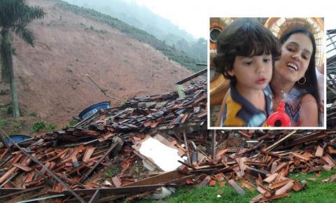 Morre criança vítima de deslizamento de terra em Santa Leopoldina