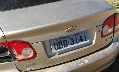 Veículo com placa de Kennedy é flagrado abandonado com sinais de capotamento na ES-060