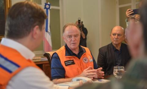 Governador e ministro discutem apoio federal na reconstrução de cidades atingidas pelas chuvas no ES