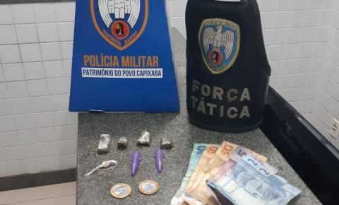 Força Tática da PM prende dois homens e faz apreensão de drogas em Itapemirim