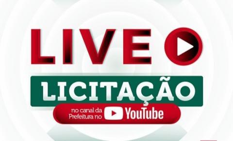 Prefeitura vai transmitir ao vivo pela internet a abertura de envelopes na Comissão de Licitação