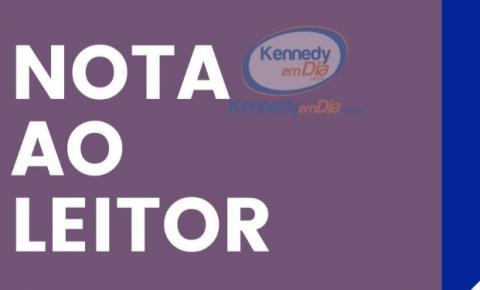 Nota ao leitor - Kennedy em Dia