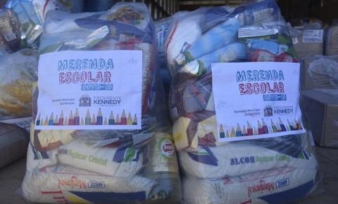 Prefeitura faz nova entrega de merenda escolar para alunos das escolas municipais