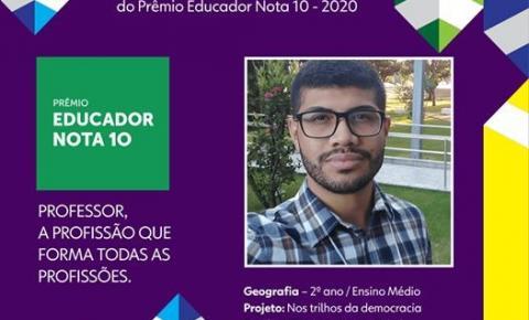 Professor kennedense concorre a prêmio de melhor educador do Brasil
