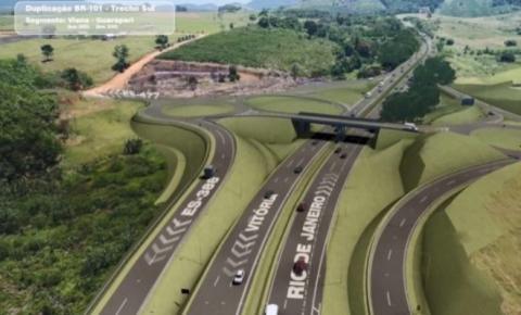Tráfego é desviado no viaduto do trevo de Guarapari para finalizar as obras