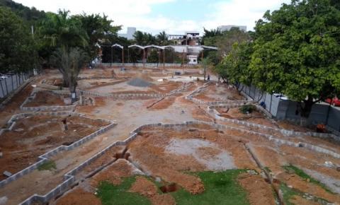 Veja como está o andamento das obras de revitalização da Praça Manoel Fricks Jordão