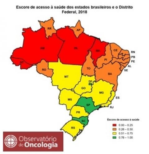 Estudo do Observatório de Oncologia mostra forte associação entre desigualdade regional e estimativa de sobrevida por câncer no Brasil