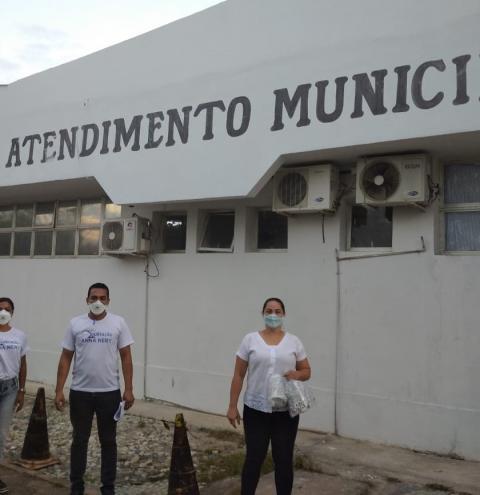 Coren-ES fiscaliza PA de Presidente Kennedy e entrega máscaras